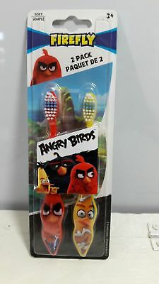 Angry Birds Firefly Tooth Brush 2 pack red and yellow soft gifts favor Children