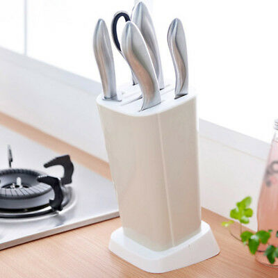 Plastic Multifunction Knife Storage Rack Block Holder Stand KitchenTool CF8
