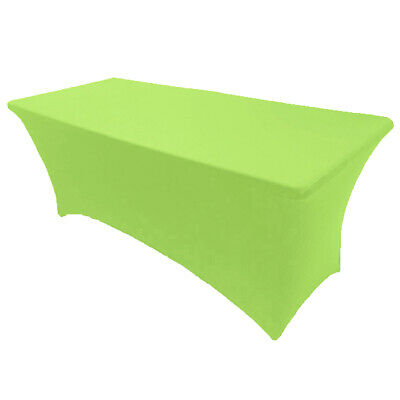 8' ft. Spandex Fitted Stretch Tablecloth Table Cover Wedding Banquet Lime