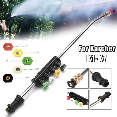 Pressure Washer Jet Lance Spray Wand + 5pcs Quick Nozzles Tips for Karcher K1-K7
