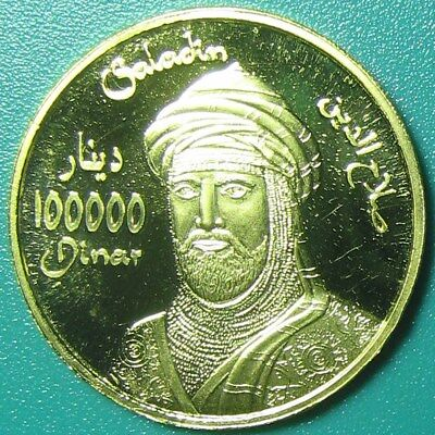 "2006 Kurdistan Iraq 100000 Dinar Gold Proof ""saladin"" Rare Mint=150 Coins Coa#21"