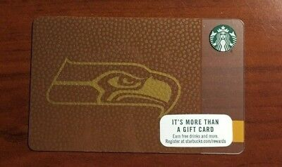 Rare Limited Edition 2017 Starbucks NFL Seattle Seahawks gift card, Never swiped