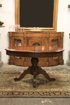 Extendable Table Wooden Walnut, Period Nineteenth Century / Extendable Table