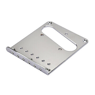 Durable Guitar Replacement Bridge Plate for Tele TL Electric Guitar Chrome