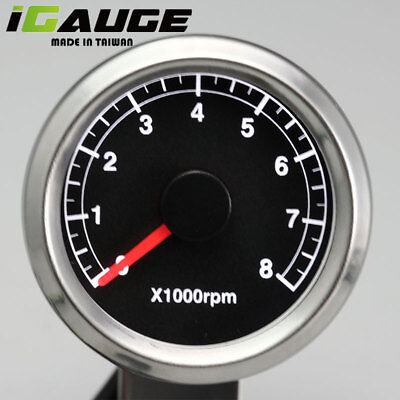 Taiwan Made 48mm Electrical Motorcycle Tachometer Gauge 0-8000 RPM