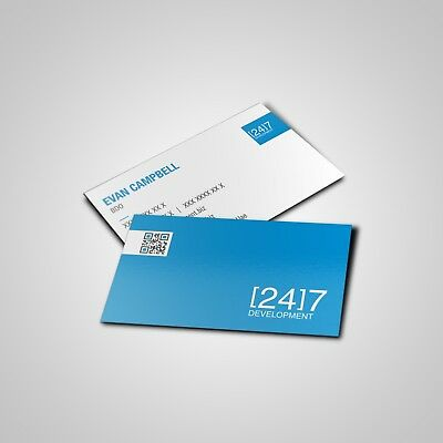 Print 500 Custom Business Cards - Matte Finish - Single or Double Sided - $16.60