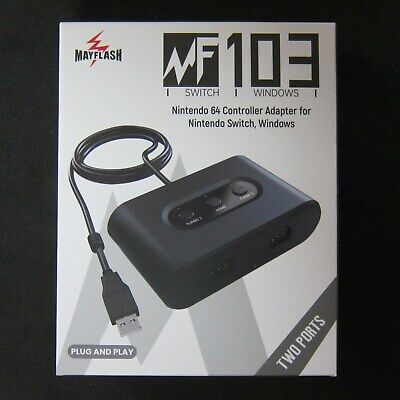Nintendo 64 Controller Adapter for PC Mac Dual USB to N64 Mayflash 2 Port - New