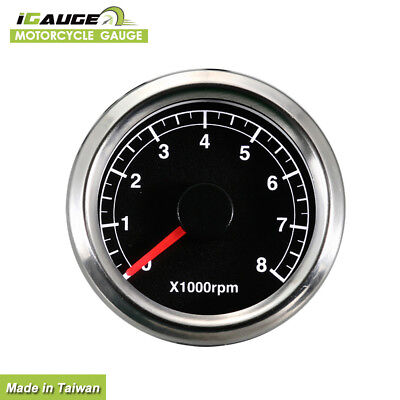 Taiwan Made 48mm Electrical Motorcycle Tachometer Gauge 0-8000 RPM aa
