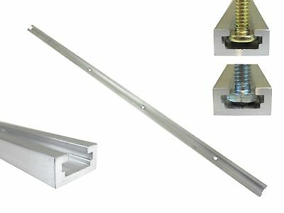 """48"""" Aluminum T Track 3/4"""" by 3/8"""" Slot, Accepts 1/4"""" Hex Bolts, 1/4"""" or 5... New"""