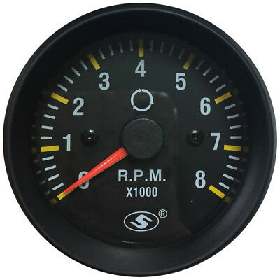 52mm 0-8000 RPM(In dash)Electrical Tachometer Gauge for 3.4.6 Cylinder Engine  1