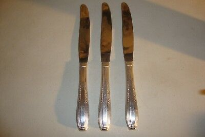 3-Harmony House Wallace Silverplate Serenade #1 Modern Hollow Knives 1944  9""