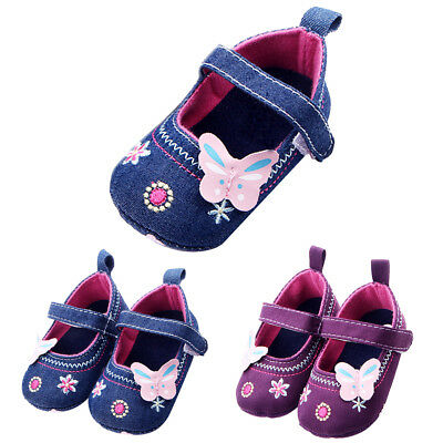 Newborn Baby Girl Summer Shoes Soft Sole Crib Prewalker Toddler Anti-Slip