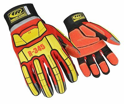 Ringers Gloves 345 Rescue Gloves, Firefighter Extrication Gloves, Small Red New