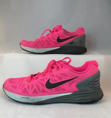 big sale d7544 15838 Nike Lunarglide 6 Women s Running Shoes Pink   Gray 654434-600 Sz 7.5