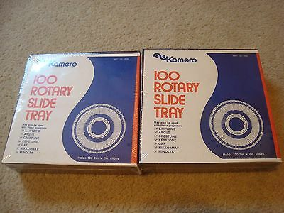 Vintage Kamero 100 Rotary Slide Tray (2) - NEW in Box