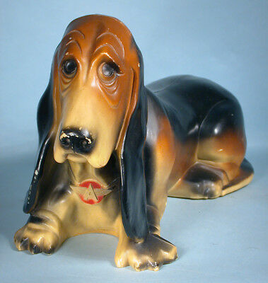 1960s Flying A Gas Oil Station Axelrod Basset Hound Figural Bank Ad Premium