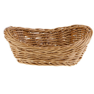 Plastic Rattan Basket Creative Yuanbao Bread Basket Restaurant Decoration