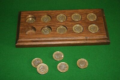 Medieval Oak Pound Coin Saver