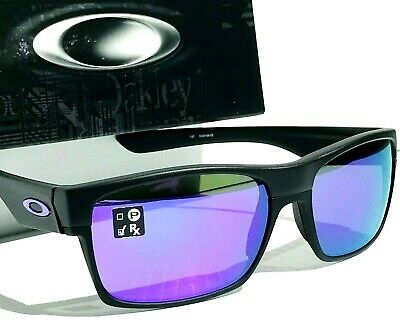 409c68f6153c1 NEW  Oakley TWO FACE Black MATTE Brushed w VIOLET Lens Sunglass oo9256