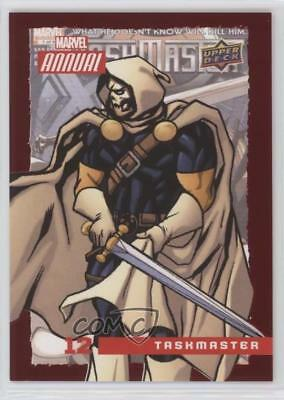 2016 Upper Deck Marvel Annual Red #12 Taskmaster Non-Sports Card 5x5