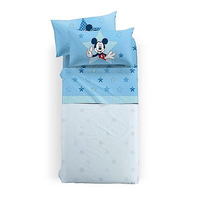 Caleffi completo lenzuola una piazza Mickey Mouse Patchwork 100% cotone