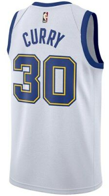 Nuova Canotta/jersey Da Collezione-Basket Nba-Golden State Warriors-Curry-Bianca
