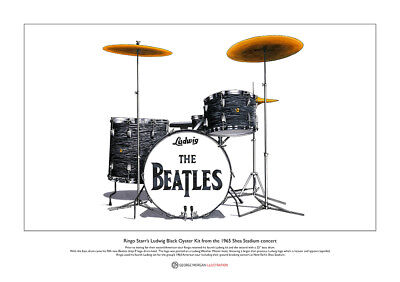Ringo Starr's Shea Stadium Kit, Limited Edition Fine Art Print A3 size