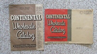 1943 Continental Products Wholesale Catalog & Cover-Auto Parts-Hardware-Luggage