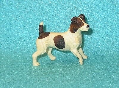 Breyer Horse Brown & White Jack Russell Terrier Dog #1505 Vgc 99-06 Yellowed #2