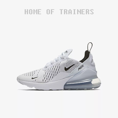 Nike Air Max 270 White White Black Kids Boys Girls Trainers All Sizes