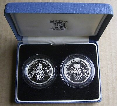 United Kingdom - Elizabeth Ii - Lot Of Four Silver Proof Coins In 3 Original Box