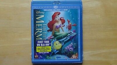 Disney THE LITTLE MERMAID Blu-ray + DVD Diamond Edition NEW Sealed