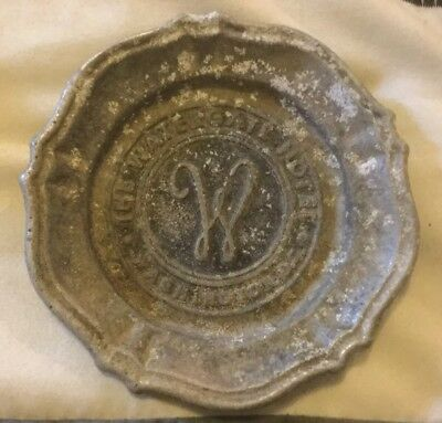Vtg Watergate Hotel Washington Dc Ashtray Coaster Artograph Riverdale Md