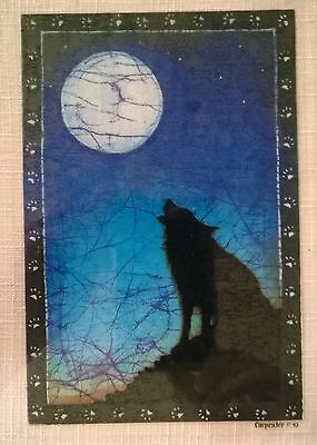 Retro 1990's Howling Wolf and Full Moon Window Sticker/Decal-Free US Shipping