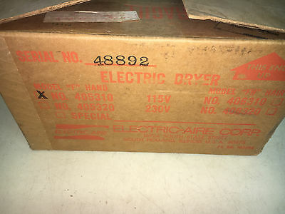 Electric-Aire Corp 405310 115V Model F 15A 1.3 Amp Hand Dryer See Pics #a16