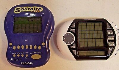 Lot of 2 Radica Solitaire Lite & Ultimate Sudoku Electronic Handheld Games