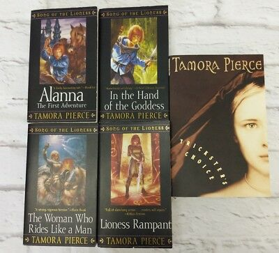 Tamora Pierce Song of the Lioness Quartet Series 5 Book Lot + Tricksters Choice
