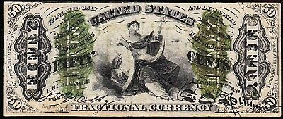 """Nice RARE Bold VF+ """"JUSTICE"""" Third Issue 50 cent Fractional Note! FREE SHIP!"""