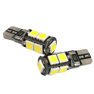 2x T10 CAR BULBS LED ERROR FREE CANBUS 9 SMD XENON WHITE W5W 501 SIDE LIGHT A1V3