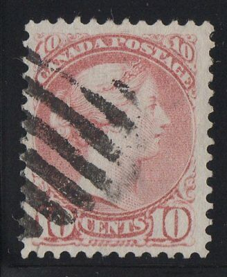 MOTON114    #45b Small Queen 10c Canada used well centered