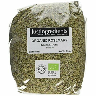 JustIngredients Essential Organic Rosemary, 250 g - Pack of 5