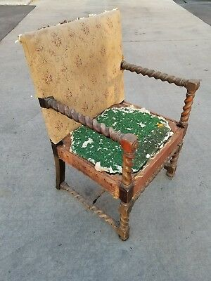 barley twist arm chair armchair  structurally sound no repairs 19th c in L.A.