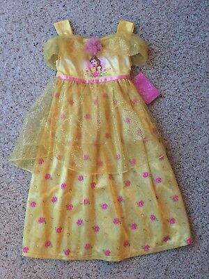 NEW Disney Princess Belle Girls Fantasy Nightgown Beauty and the Beast 4T