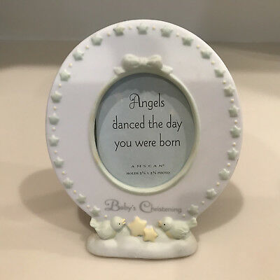 Porcelain Baby's Christening Picture Frame