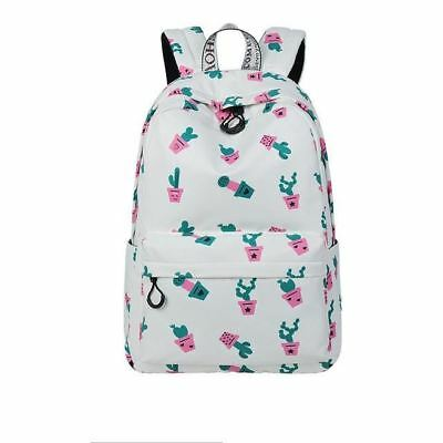 Very Cute Trendy Cartoon Cactus Succulent Printed Waterproof Backpack