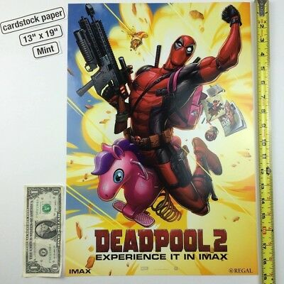 Deadpool 2 Regal IMAX 13 x 19 Poster Cable Ryan Reynolds Cable