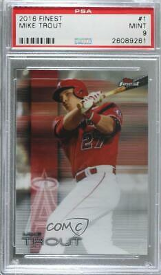 2016 Topps All Star Game Mike Trout Baseball Card 1 Psa 9 Mint