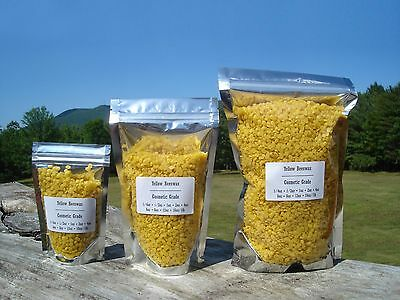 Pure Yellow Beeswax Pellets Odorless Beads Filtered Refined 16 oz, 1 lb pound