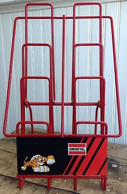 Vintage Uniroyal Tire Tiger Metal Counter Display Tire Station Gas Station Sign