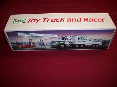 """1988 HESS TRUCK  """"TOY TRUCK and RACER"""" NEW IN BOX"""